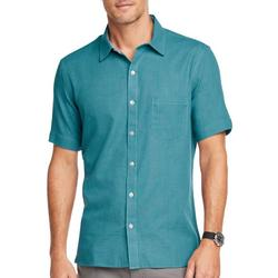 Mens Never Tuck Solid Button Down Shirt
