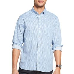 Van Heusen Mens Slim Fit Rectangle Print Long Sleeve Shirt