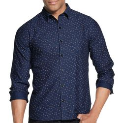 Van Heusen Mens Never Tuck Slim Fit Floral Print Shirt
