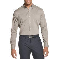 Van Heusen Mens Mini Checkered Print Long Sleeve Shirt