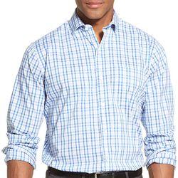 Van Heusen Mens Traveler Stretch Plaid Shirt