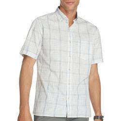 Mens Never Tuck Heather Plaid Button Down Shirt