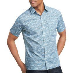 Van Heusen Mens Never Tuck Floral Button Down Shirt