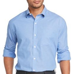 Van Heusen Mens Solid Woven Long Sleeve Shirt