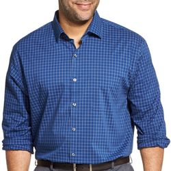 Van Heusen Mens Big & Tall Traveler Glen Plaid Shirt