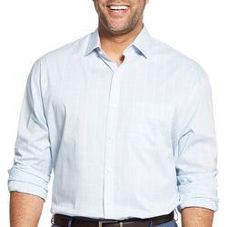 Van Heusen Mens Big & Tall Traveler Plaid Shirt