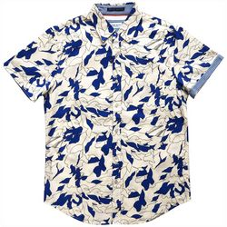 Rebel James & Charli Mens Oxford Abstract Leaf Shirt