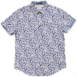 Rebel James & Charli Mens Oxford Abstract Grain Shirt