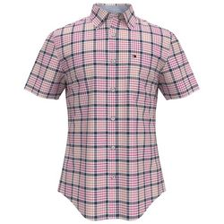 Tommy Hilfiger Mens Checked Short Sleeve Shirt