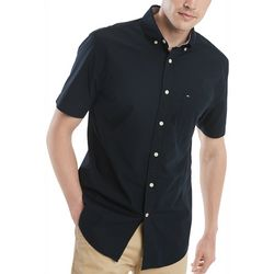 Tommy Hilfiger Mens Maxwell Button Up Short Sleeve Shirt