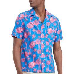 Tommy Hilfiger Mens Palm Print Camp Shirt