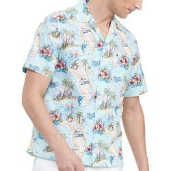 Tommy Hilfiger Mens Post Card Camp Shirt