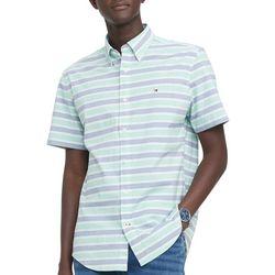 Tommy Hilfiger Mens Hill Stripe Short Sleeve Shirt