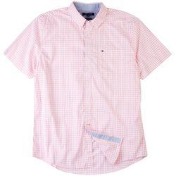 Tommy Hilfiger Mens Twain Check Short Sleeve Shirt