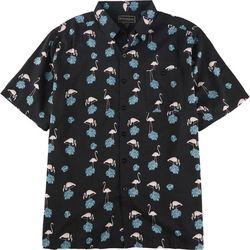 Weekender Mens Flamingo Leaf Short Sleeve Shirt