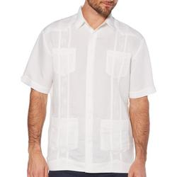 Mens Button Flap Pockets Embroidered Shirt