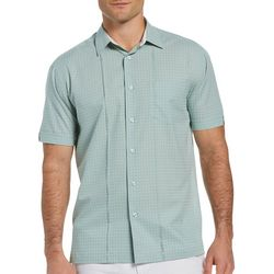 Cubavera Mens Mini Cross Textured Pocket Woven Shirt