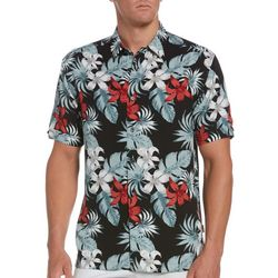 Cubavera Mens Tropical Print Woven Shirt