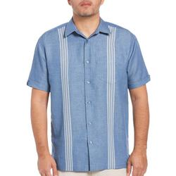 Mens Multi Stripe Panel Pocket Shirt