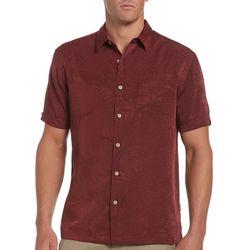 Cubavera Mens Solid Tropical Jaquard Shirt