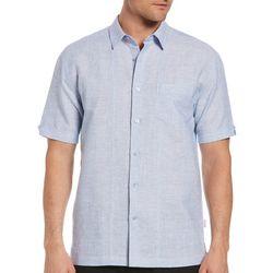 Cubavera Mens Two-Tone One Pocket Tuck Shirt