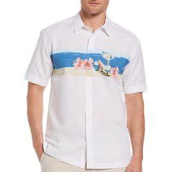 Cubavera Mens Beach Reflections Chest Print Shirt