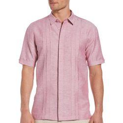 Cubavera Mens Triple Pintuck Linen Shirt