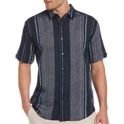 Cubavera Mens Yarn Dye Textured Stripe Shirt