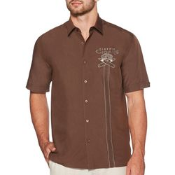 Cubavera Mens Classic Cigar Embroidered Button Down Shirt
