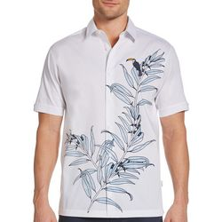 Cubavera Mens Ecoselect Tropical Toucan Woven Shirt
