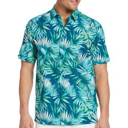 Cubavera Mens Palm Leaf Button Down Shirt