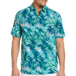 Mens Palm Leaf Button Down Shirt