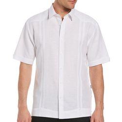 Cubavera Mens Double Pleat No Pocket Guayabera Shirt