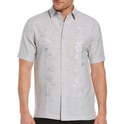Cubavera Mens Paisley Embroidered Shirt
