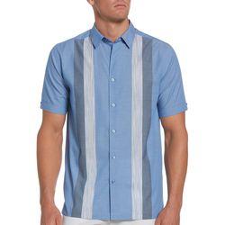 Cubavera Mens Multi Stripes Woven Shirt
