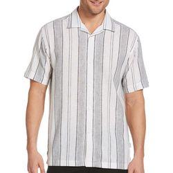 Cubavera Mens Stripe Woven Shirt