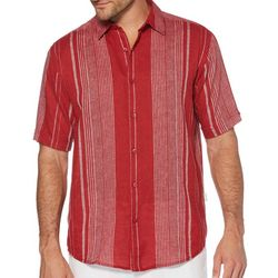 Cubavera Mens Yarn Dyed Texture Stripe Shirt