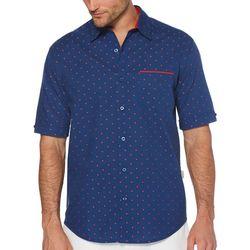 Cubavera Mens Dobby Dot Jacquard Shirt