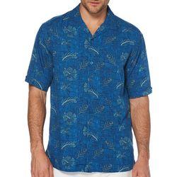 Cubavera Mens Sketch Hibiscus Print Shirt