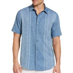 Cubavera Mens Cross Dyed Textured Panel Shirt