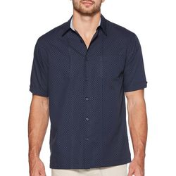 Cubavera Mens Mini Dot Print Shirt
