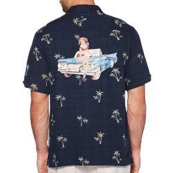 Cubavera Mens Palm Tree Print Shirt