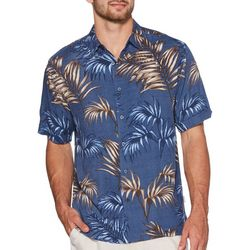 Cubavera Mens Palm Leaf Printed Button Down Shirt