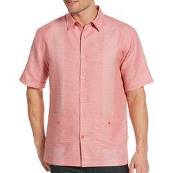Cubavera Mens Yarn Dye Stripe Guaybera Shirt