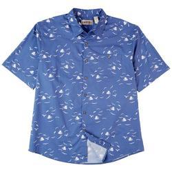 Mens Untucked Ship & Gulls Short Sleeve Shirt