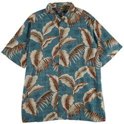 Boca Classics Mens Tropical Palm Button Down Collared Shirt