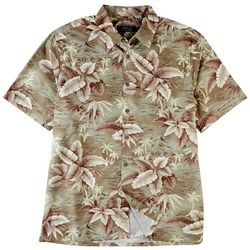 Boca Classics Mens Tropical Print Button Down Collared Shirt