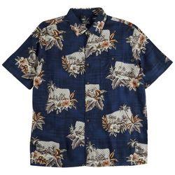 Boca Classics Mens Tropical Scene Button Down Collared Shirt