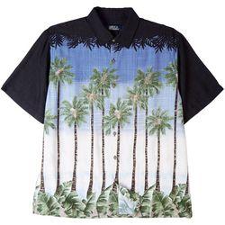 Boca Classics Mens Tall Palms Button Down Shirt