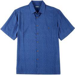 Mens Tonal Palm Tree Button Down Shirt